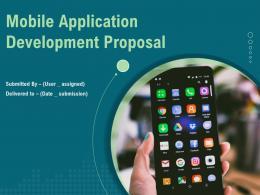 Mobile Application Development Proposal Powerpoint Presentation Slides