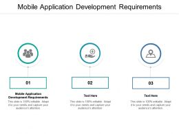 Mobile Application Development Requirements Ppt Powerpoint Presentation Background Designs Cpb