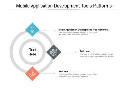 Mobile Application Development Tools Platforms Ppt Powerpoint Presentation Ideas Slides Cpb