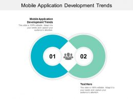 Mobile Application Development Trends Ppt Powerpoint Presentation Gallery Summary Cpb