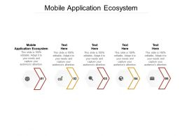 Mobile Application Ecosystem Ppt Powerpoint Presentation Portfolio Icons Cpb