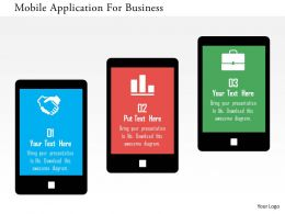 Mobile Application For Business Flat Powerpoint Design