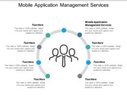 Mobile Application Management Services Ppt Powerpoint Presentation Infographics Themes Cpb