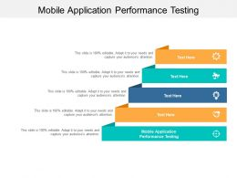 Mobile Application Performance Testing Ppt Powerpoint Presentation Gallery Slideshow Cpb
