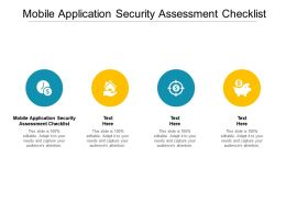 Mobile Application Security Assessment Checklist Ppt Powerpoint Presentation Styles Graphics Cpb