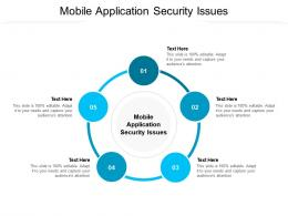Mobile Application Security Issues Ppt Powerpoint Presentation Ideas Designs Cpb