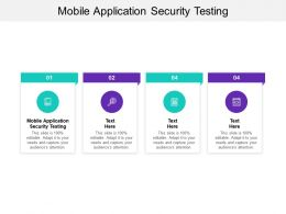 Mobile Application Security Testing Ppt Powerpoint Presentation Infographics Cpb