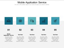 Mobile Application Service Ppt Powerpoint Presentation Model Cpb