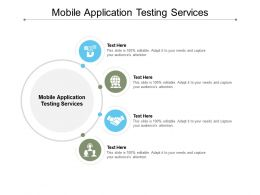 Mobile Application Testing Services Ppt Powerpoint Presentation Mockup Cpb