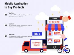 Mobile Application To Buy Products