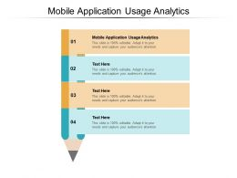 Mobile Application Usage Analytics Ppt Powerpoint Presentation Model Backgrounds Cpb