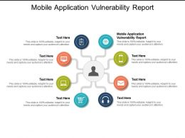 Mobile Application Vulnerability Report Ppt Powerpoint Presentation Inspiration Graphics Download Cpb