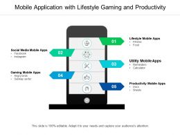 Mobile Application With Lifestyle Gaming And Productivity