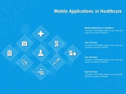 Mobile Applications In Healthcare Ppt Powerpoint Presentation Inspiration Guide