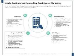 Mobile Applications To Be Used For Omnichannel Marketing Operating System Ppt Information