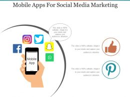 Mobile Apps For Social Media Marketing Powerpoint Slide Images