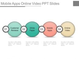 Mobile Apps Online Video Ppt Slides