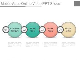 Mobile Apps Online Video Ppt Slides