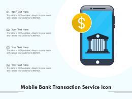 Mobile Bank Transaction Service Icon