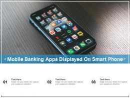 Mobile Banking Apps Displayed On Smart Phone