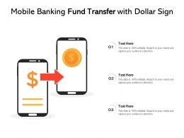 Mobile Banking Fund Transfer With Dollar Sign