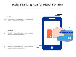 Mobile Banking Icon For Digital Payment