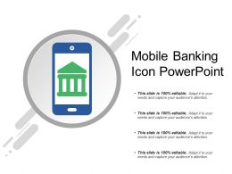 Mobile Banking Icon Powerpoint