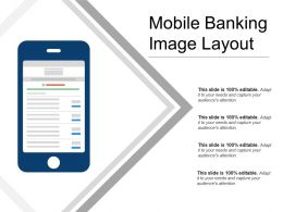 Mobile Banking Image Layout