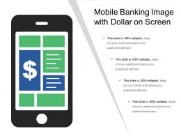 Mobile Banking Image With Dollar On Screen