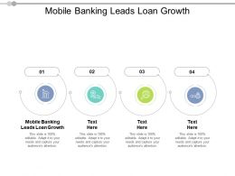 Mobile Banking Leads Loan Growth Ppt Powerpoint Presentation Professional Outline Cpb