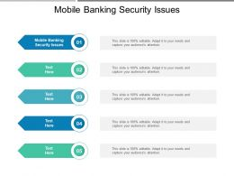 Mobile Banking Security Issues Ppt Powerpoint Presentation Ideas Microsoft Cpb
