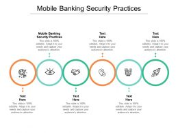 Mobile Banking Security Practices Ppt Powerpoint Presentation Inspiration Grid Cpb