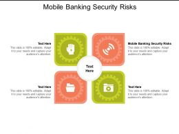 Mobile Banking Security Risks Ppt Powerpoint Presentation Styles Graphics Design Cpb