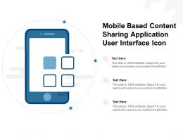 Mobile Based Content Sharing Application User Interface Icon