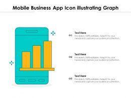 Mobile Business App Icon Illustrating Graph