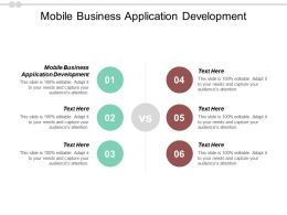 Mobile Business Application Development Ppt Powerpoint Presentation Summary Portfolio Cpb