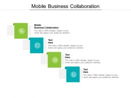 Mobile Business Collaboration Ppt Powerpoint Presentation File Backgrounds Cpb