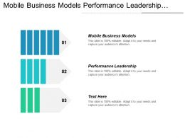 Mobile Business Models Performance Leadership Corporate Communication Strategy Cpb