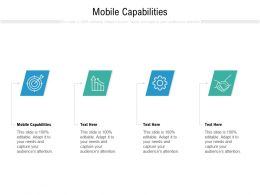 Mobile Capabilities Ppt Powerpoint Presentation Gallery Icon Cpb