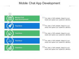 Mobile Chat App Development Ppt Powerpoint Presentation Styles Show Cpb