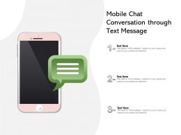 Mobile Chat Conversation Through Text Message