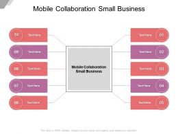 Mobile Collaboration Small Business Ppt Powerpoint Presentation Pictures Deck Cpb