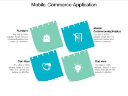 Mobile Commerce Application Ppt Powerpoint Presentation Gallery Styles Cpb
