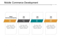 Mobile Commerce Development Ppt Powerpoint Presentation Inspiration Example Cpb