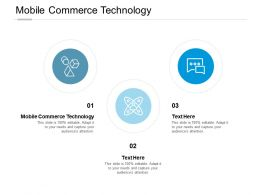 Mobile Commerce Technology Ppt Powerpoint Presentation Infographics Deck Cpb