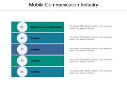 Mobile Communication Industry Ppt Powerpoint Presentation Model Display Cpb