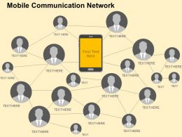 Mobile Communication Network Flat Powerpoint Design