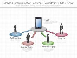 Mobile Communication Network Powerpoint Slides Show