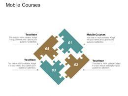 Mobile Courses Ppt Powerpoint Presentation Portfolio Designs Download Cpb