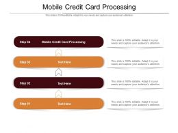 Mobile Credit Card Processing Ppt Powerpoint Presentation File Graphic Tips Cpb